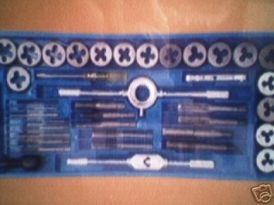 80 Piece Tap and Die Set - SAE & METRIC w/ 2 Case
