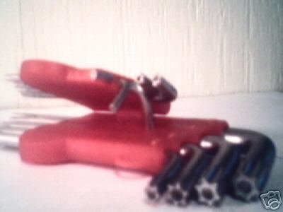 9 pc Star Bit - L shape wrench