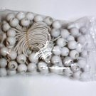 "100pc Bunge Balls -- 9"" long  -- white"