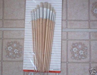 10 pcs artist paint brush - 3,4,5,6,7,8,9,10,11,12