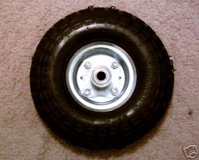 """10"""" PNEUMATIC TIRE WITH HUB"""