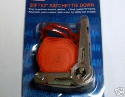 2'' X  20' Ratchet Strap Tie Down