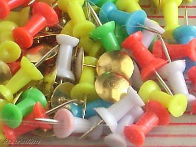 60 pcs tack & pin assortment-push pin