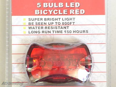 led bulb bicycle back light - red