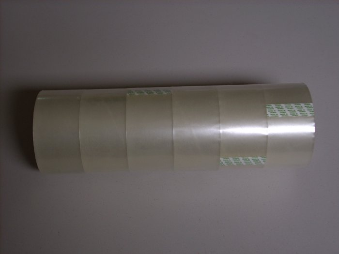 "6 ROLLS OF CLEAR PACKING TAPE 2"" x 55 yards"