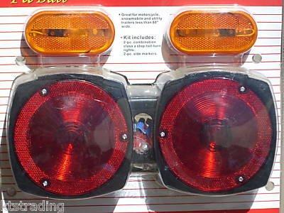 Trailer Light Kit - 2pc rear light, 2pc side light