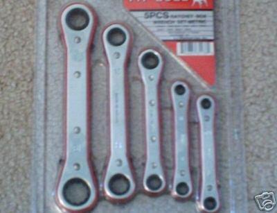 5 pc ratchet box wrench set-metric