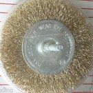 "4 "" Brass Wire Wheel Brush with 1/4"" shaft"
