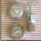 Brass Wire Wheel Brush Set