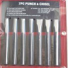 "6"" long 7 pcs Punch & Chisel"