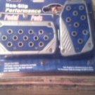 2 pc Blue Pedal Pads