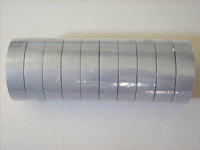 10 rolls of grey color vinyl electric tape