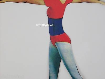 """11"""" waist trimmer-exercise belt-gym tummy belt-blue color"""