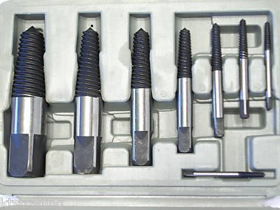 8pc Spiral Easy Out - Broken Screws Extractor