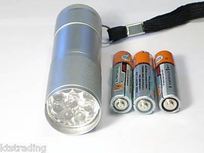 "3-1/2"" Nine LED Flashlight - Super Bright"