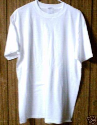 5 qty Large Size PLAIN WHITE T-SHIRTS