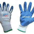 6 pairs of Heavy Duty Rubber Coated Work Gloves - large