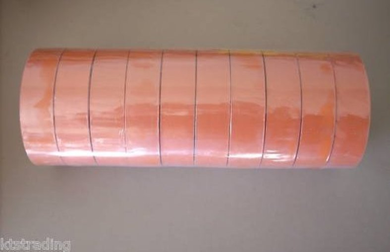 10 rolls of orange color vinyl electric tape