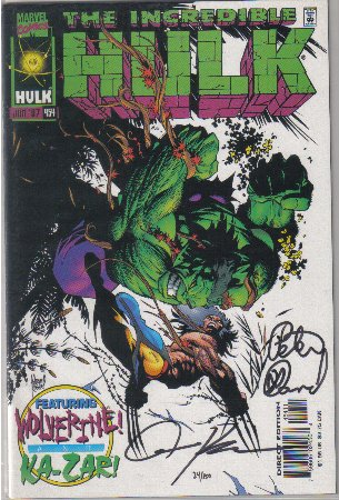Incredible Hulk #454 Comic Book - Autographed