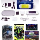 "Sony PSP ""Limited Edition"" Ceramic White ""Value Bundle"" - 21 Games + PSP Car Kit"