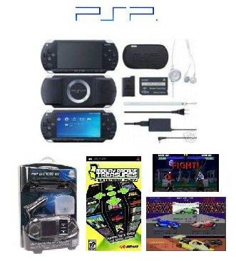 "Sony PSP Black ""Value Bundle"" - 21 Games + PSP Car Kit"