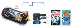 Brand New Sony Playstation Portable Video Game System - One Game, UMD Movie + Extra Accessories