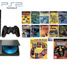 "Playstation 2 ""Old School Bundle"" - 100 of Your Favorite Games + DVD Movie"