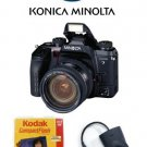 Minolta Maxxum 7  with Konica Minolta 18-70 f3.5-5.6 D Maxxum Digital Zoom Lens and More