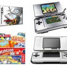Nintendo DS Dual Screen Handheld Video Game System Bundle with 4 Games