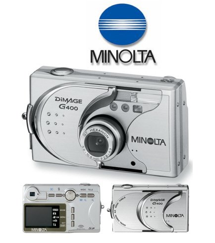 Konica Minolta DiMAGE G400  4.0 Megapixel Digital Camera with 1.5inch  LCD Screen