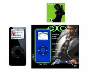 Ipod Nano 2GB Black - 500 Songs in Your Pocket + Exo Nano Combo