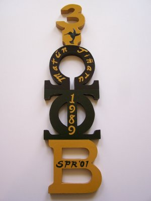 Fraternity / Sorority Cut-Out Letter Paddle