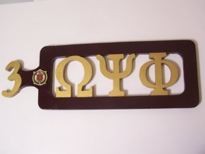 Fraternity / Sorority Side-Letter Paddle