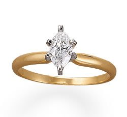 Dazzling Marquise Cut Diamond Engagement Ring