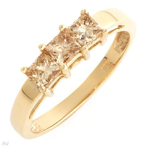 .75ctw Princess Cut Diamond Engagement Ring Great Shine