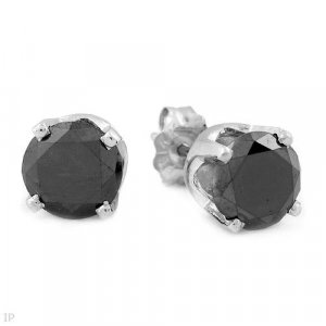 2.15 ctw Black Diamond Stud Earrings