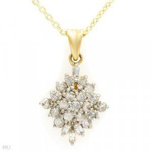 1.00 CTW Diamond Necklace/Pendant