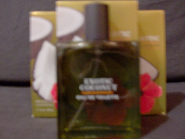 Bath and Body Works Exotic Coconut Perfume Spray x4