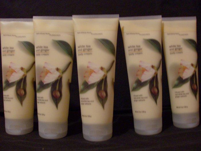 5 Bath & Body Works White Tea & Ginger Cream Lotion