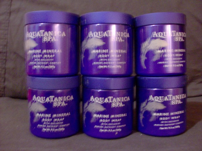 3 Jars of Aquatanica Spa Marine Mineral Body Wrap