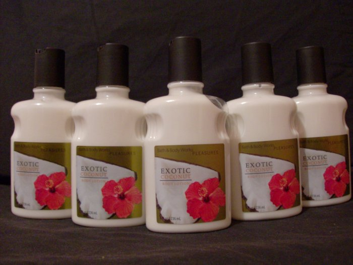 5 Bath and Body Works Exotic Coconut Lotions