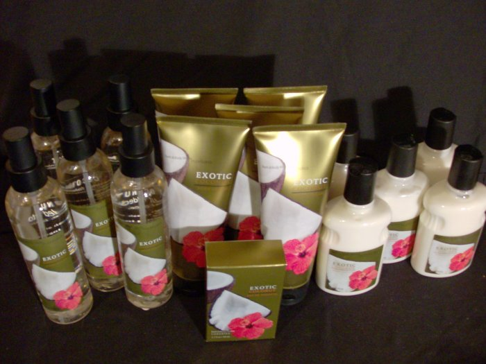 Bath and Body Works Exotic Coconut Mega Set (Lotions, Sprays, Body Creams and Perfume)