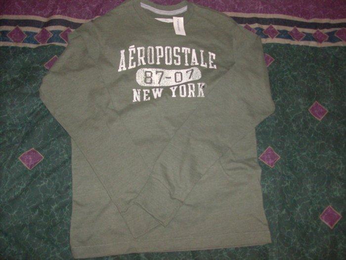 NWT Men's Aeropostale Olive Long Sleeve Shirt Sz. M