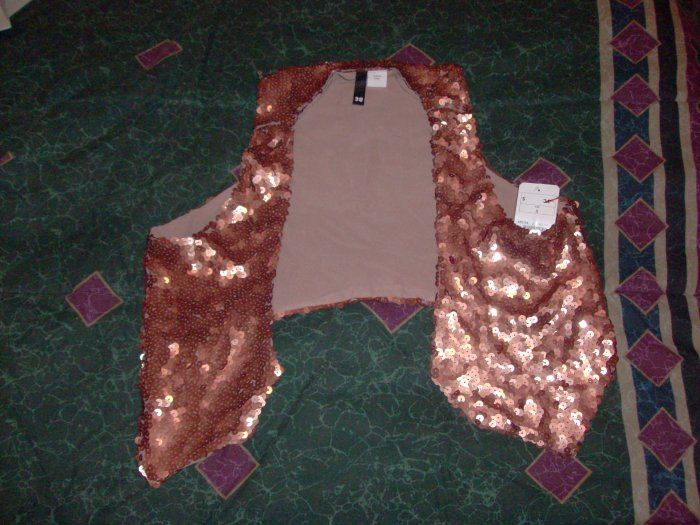 H&M Gold Party Vest Sz. 8