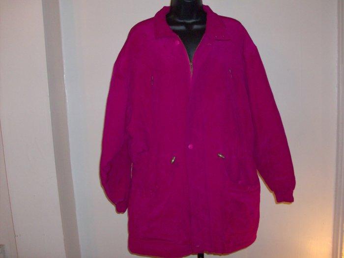 Women's Pink Limborock Silk Jacket Sz. L