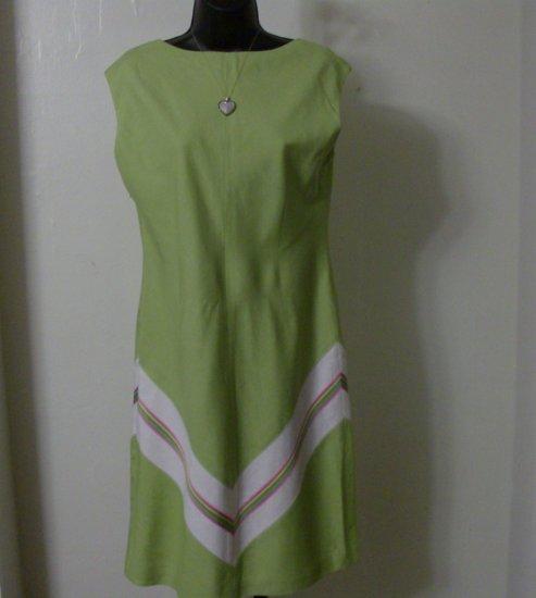 Liz Claiborne Green Summer Stripe Dress