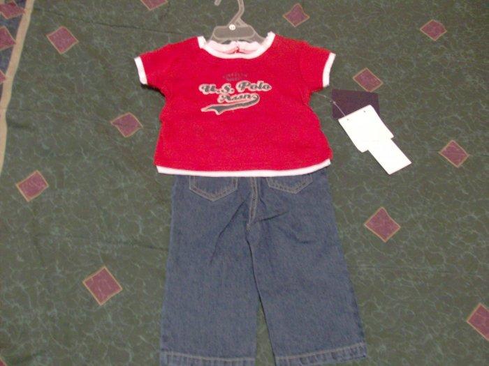 NWT Cute Polo Assn 2 Piece Set 18 months