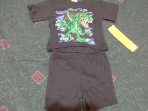 NWT Giant Lizard 2 Piece Set 4T
