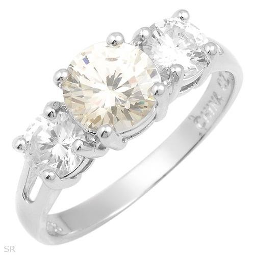 Majestic 4.20 ctw Cubic Zirconia Engagement Ring Size 8