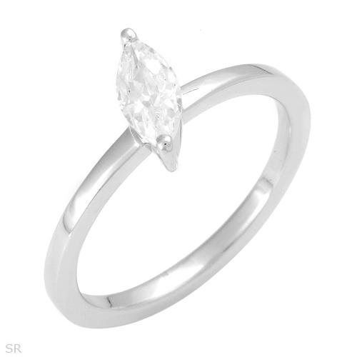 Marquise Cut .75 ctw Cubic Zirconia Engagement Ring 6.5